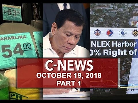 [UNTV]  UNTV: C-News (October 19, 2018) PART 1