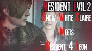 Sexy Snow White Meets Resident Evil 4 Leon In Resident Evil 2 Remake