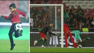 Download Video Cristiano Ronaldo goalkeeper for son CR7 Jr and nephew MP3 3GP MP4