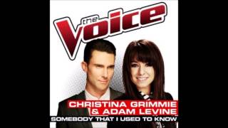 Christina Grimmie & Adam Levine - Somebody That I Used To Know (Audio)