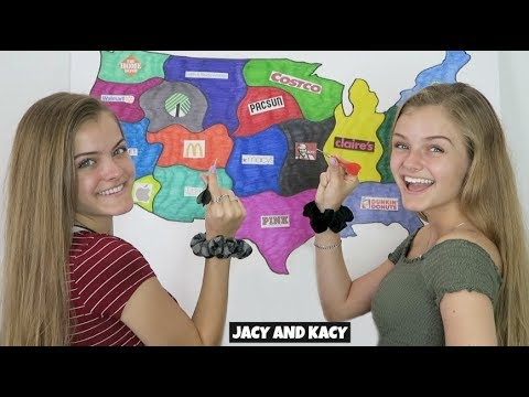 Throwing A Dart At A Map & Buying Whatever It Lands On ~ Jacy and Kacy