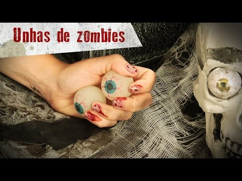 Nail art Halloween : Unhas de zombie