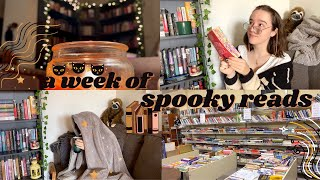 6 Books in 6 Days, Thrift Haul & Creating a Book Nook // cozy reading vlog☕