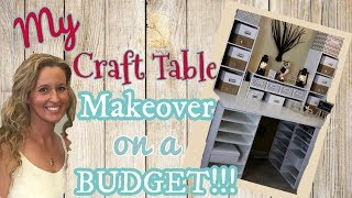 My Craft Table MAKEOVER on a BUDGET   DIY Craft Table   Michael's Craft Desk