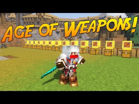 AGE OF WEAPONS! | Minecraft Mod Showcase!