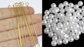 How To Make Simple And Beautiful Pearl Earrings At Home | DIY | Pearls Jewelry Making | Uppunutihome