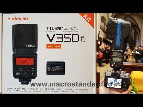 Prezentare Blit TTL (HSS) Godox v350F si comparatia cu Godox Mini TT350F pentru Fujifilm