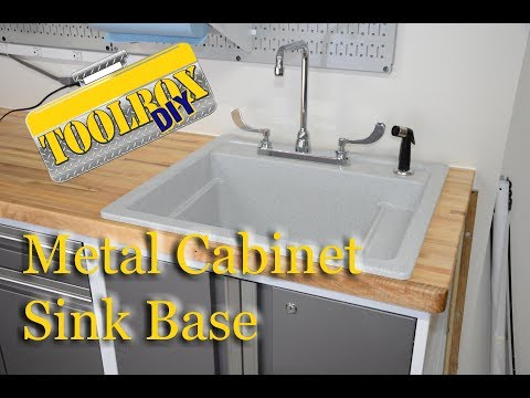 Convert a Metal Cabinet to a Sink Base | Short Version
