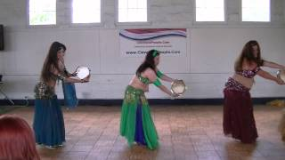 preview picture of video 'Belly Dance using Tambourines'