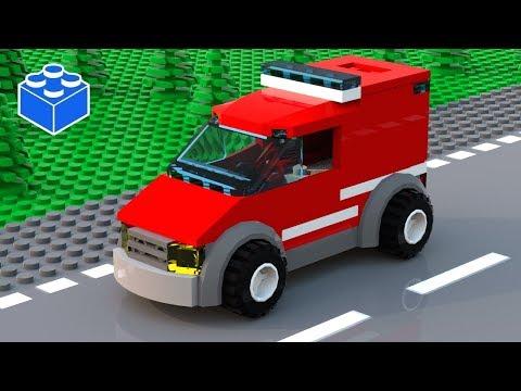 Custom Lego Fire Car Moc Lego Fire Truck Instructions Lego Car