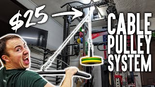 How To: DIY Cable Pulley Home Gym System for $25