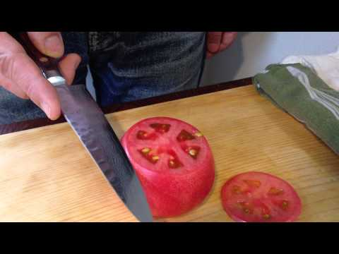 Rebana tomate fino - Cuchillo Japones Shogun Damascus 1124