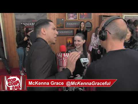 Popcorn Talk at the Annabelle Comes Home Red Carpet Premiere - McKenna Grace