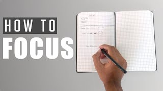 How to Focus | 6 Tips to develop Intense Focus