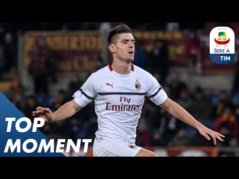 Piątek Opens the Scoring for AC Milan | Roma 1-1 Milan | Top Moment | Serie A