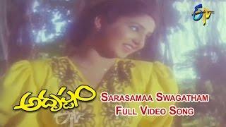Sarasamaa Swagatham Full Video Song | Adrushthom