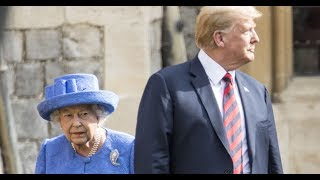 Trump Turns His Back On The Queen, Outrage Ensues