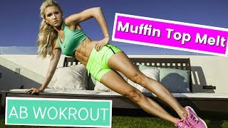 Muffin Top Melt Workout! AB Workout - No More Muffin Top | Rebecca Louise by Rebecca-Louise