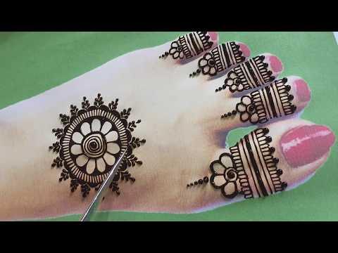 beautiful foot mehndi design by maryam mehndi expert