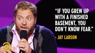 Jay Larson Grew Up with a Creepy, Unfinished Basement