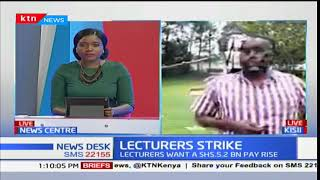 University staff members in Kisii continue with the ongoing lecturers' strike