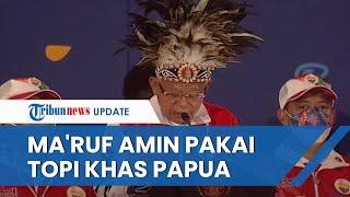Tutup Perhelatan PON XX Papua, Ma'ruf Amin Kenakan Topi Adat Khas Papua & Puji Penyelenggaraan Acara