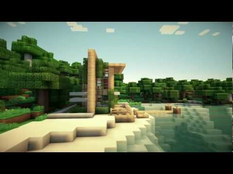 Small Modern Beach Home Minecraft Project