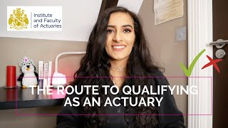 The route to qualifying as an ACTUARY | IFoA actuarial exams EXPLAINED | Ranveer Kaur