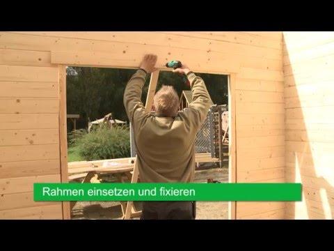 Gartenhaus Doppeltür Montage - Wolff Finnhaus
