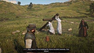 Red Dead Redemption 2 - KKK Accidentally Drop A Cross On Themselves & KKK Leader Boss Fight