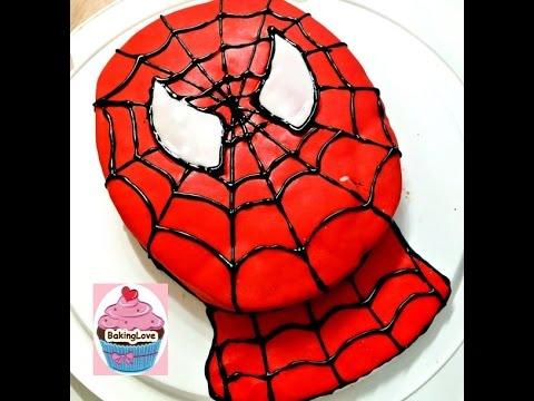 DIY: Spiderman Motivtorte - Geburtstagstorte mit Fondant - Fondanttorte -sehr einfach!
