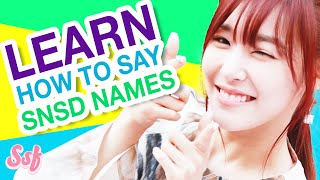 HOW TO SAY SNSD's Korean Names & Meaning - Girls' Generation Video l @Soshified