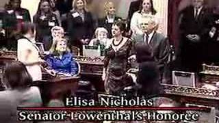 Senator Lowenthal honors his 2007 Woman of the Year