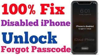 Unlock Disabled iPhone/iPad/iPod without Passcode (Without DATA LOSS) FIX iPhone is Disabled