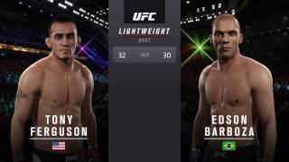 UFC2 Тони Фергюсон-Эдсон Барбоза.