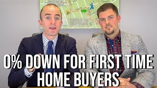 Zero Down Mortgage for First Time Home Buyers when Buying a House