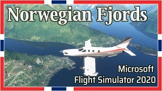 Flight Simulator 2020: Norway Fjords - 1080p HD