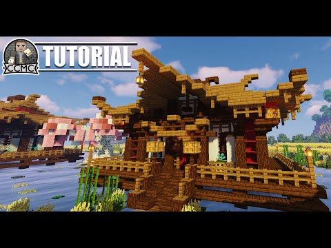 Oriental House/Temple + Schematic (Chinese/Japanese) Minecraft Project