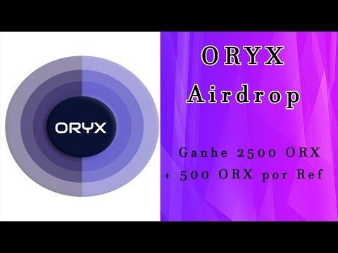 Ganhe 2500 Tokens ($5) no Airdrop ORYX . Muito Fácil !