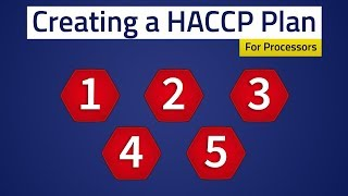Food Safety - Creating A HACCP Plan