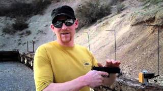 Grab a Glock .40 cal when it fires.  Warning- inapropriate for those who want to be defenseless.