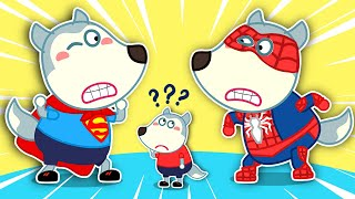 Wolf family | Superman Wolfoo Becomes a Reluctant Spiderman