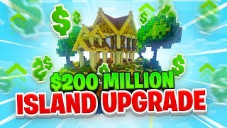 $200 MILLION ISLAND UPGRADE! - Minecraft SKYBLOCK #19