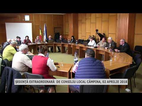 Şedinţa extraordinară de consiliu local Câmpina 02 Aprilie 2018