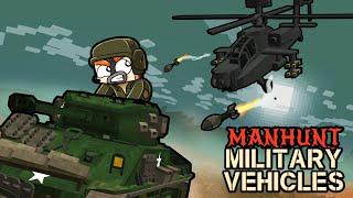Manhunt with MILITARY VEHICLES! (Speedrunner vs Hunter)