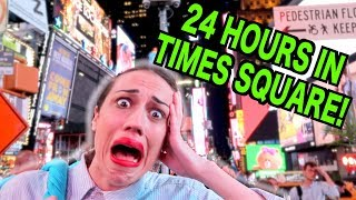 Stranded In Times Square For 24 Hours! // EPISODE 3
