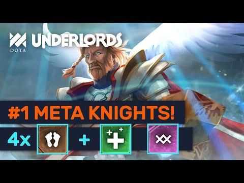 #1 META KNIGHTS! Great Trolls Healer & Warlock Build! | Dota Underlords