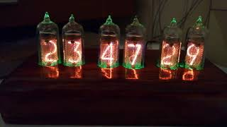 Nixie Clock by Andy. RGB backlight