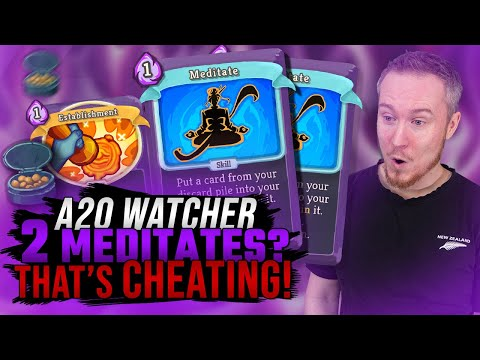 2 Meditates? That's CHEATING! | Ascension 20 Watcher Run | Slay the Spire