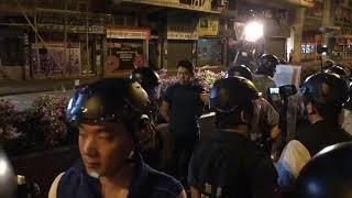 沙田區議員黃學禮示威現場被捕